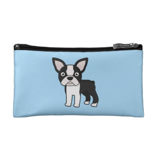 Cute Boston Terrier Makeup Bag