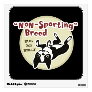 Cute Boston Terrier - Nonsporting Breed Wall Sticker