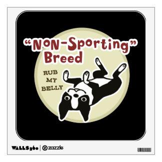Cute Boston Terrier - Nonsporting Breed Wall Sticker