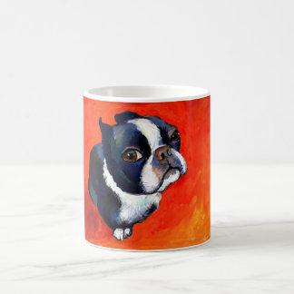 Cute Boston Terrier Painting Svetlana Novikova Classic White Coffee Mug