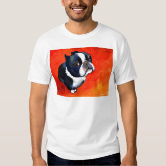 Cute Boston Terrier Painting Svetlana Novikova T-Shirt