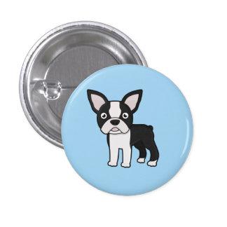 Cute Boston Terrier Pinback Button