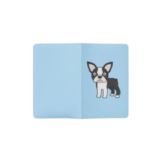 Cute Boston Terrier Pocket Moleskine Notebook Cover With Notebook