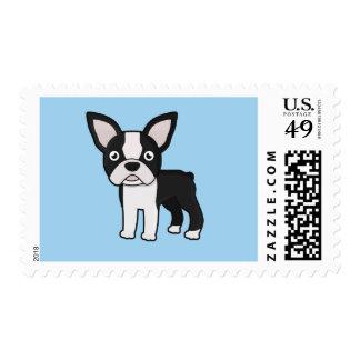 Cute Boston Terrier Postage