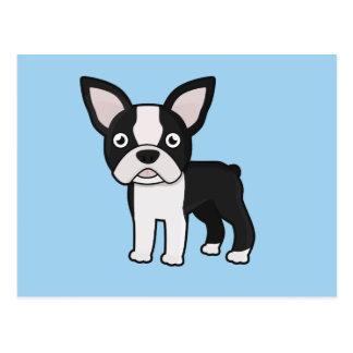 Cute Boston Terrier Postcard