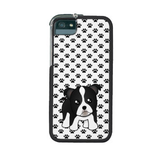Cute Boston Terrier Puppy Dog Cartoon Animal Cover For iPhone 5/5S
