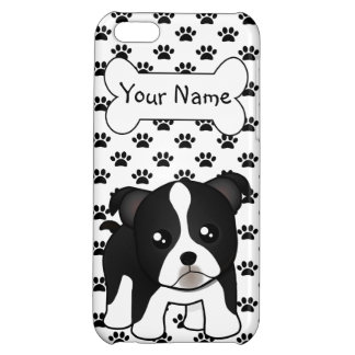 Cute Boston Terrier Puppy Dog Cartoon Animal Cover For iPhone 5C