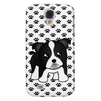 Cute Boston Terrier Puppy Dog Cartoon Animal Galaxy S4 Case