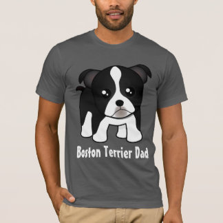 Cute Boston Terrier Puppy Dog Cartoon Animal T-Shirt