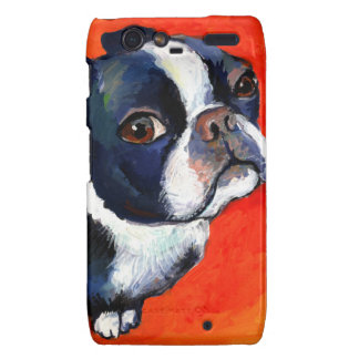 Cute Boston Terrier puppy dog gifts Droid RAZR Cases