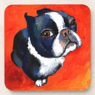 Cute Boston Terrier puppy dog gifts Coasters