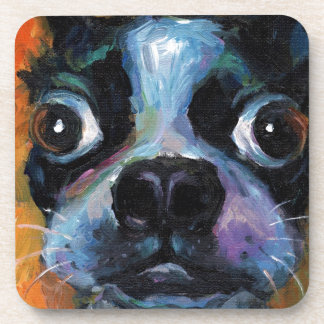 Cute Boston Terrier puppy dog portrait products Coaster