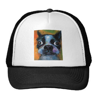Cute Boston Terrier puppy dog portrait products Mesh Hat