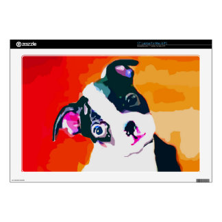 Cute Boston Terrier Puppy Laptop Decals