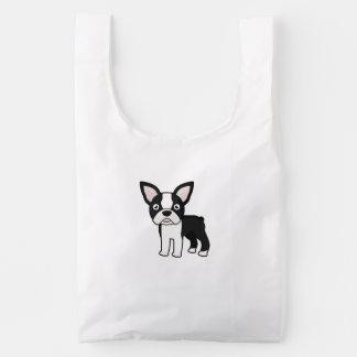 Cute Boston Terrier Reusable Bag
