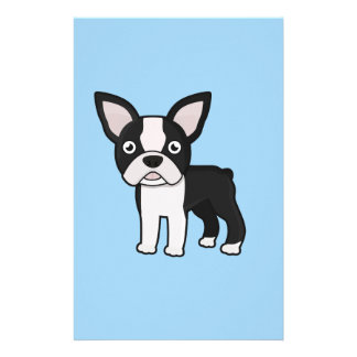Cute Boston Terrier Stationery