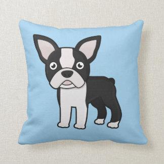 Cute Boston Terrier Throw Pillow