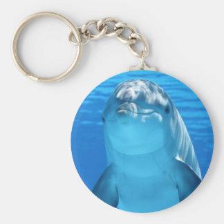 Cute Bottlenose Dolphin underwater Keychain