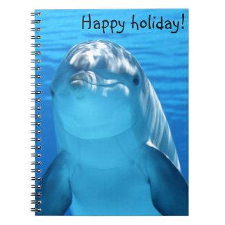 Cute Bottlenose Dolphin underwater Notebook