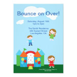 Cute Bounce House Birthday Party Invitation