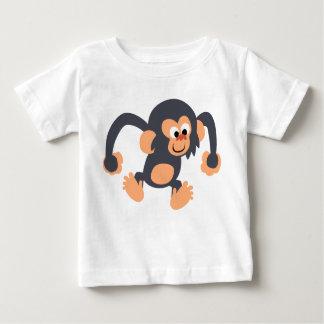 Cute Bouncy Cartoon Chimpanzee Baby T-Shirt