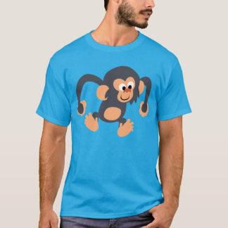 Cute Bouncy Cartoon Chimpanzee T-Shirt