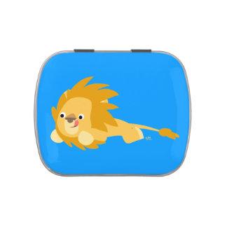 Cute Bouncy Cartoon Lion Candy Tin