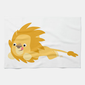 Cute Bouncy Cartoon Lion Kitchen Towel