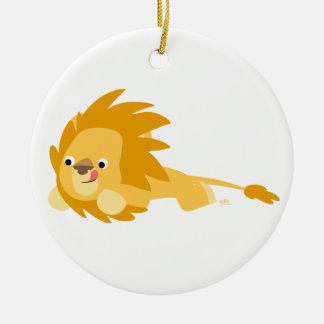 Cute Bouncy Cartoon Lion Ornament