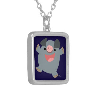 Cute Bouncy Cartoon Pig Necklace
