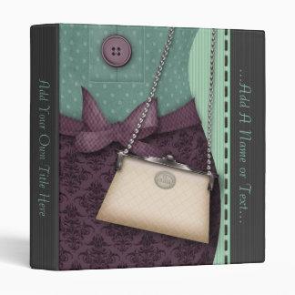 Cute Boutique Retro Outfit and Handbag Vinyl Binders