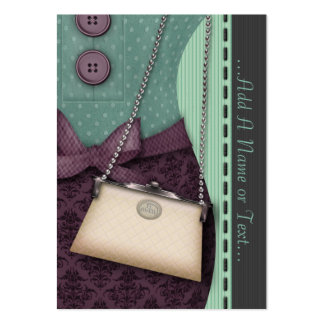 Cute Boutique Retro Outfit and Handbag Large Business Cards (Pack Of 100)