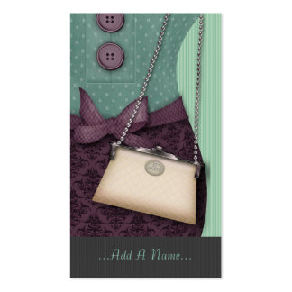 Cute Boutique Retro Outfit and Handbag Double-Sided Standard Business Cards (Pack Of 100)