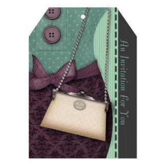 Cute Boutique Retro Outfit and Handbag Invitation