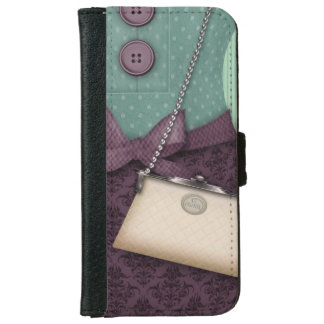 Cute Boutique Retro Outfit and Handbag iPhone 6/6s Wallet Case