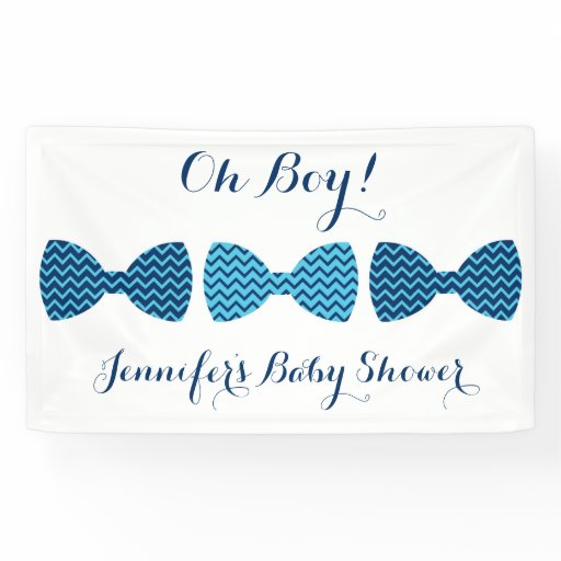Cute Bow Tie Baby Shower Banner