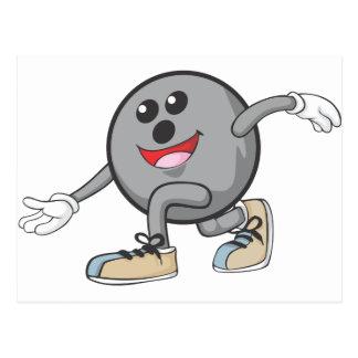 Cute Bowling Ball Player Postcard