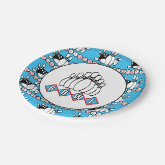 Cute Bowling party paper plate