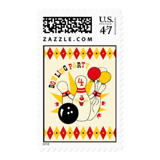 Cute Bowling Pin Birthday Postage