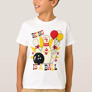 Cute Bowling Pin Birthday Shirt