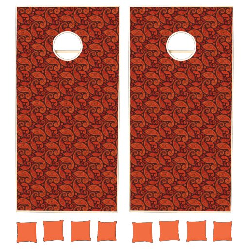 Cute bown swirl paisley patterns Case-Mate iPhone  Cornhole Set
