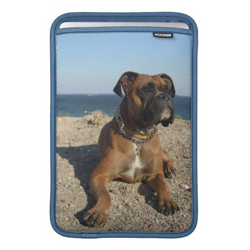 "Cute Boxer Dog  11"" MacBook Sleeve"