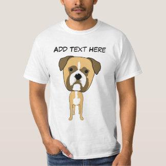 Cute Boxer Dog Cartoon Shirt
