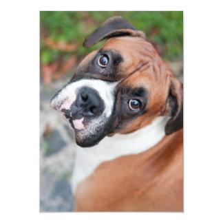 Cute boxer dog 5x7 paper invitation card