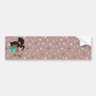 Cute Boxer Girl Bumper Stickers
