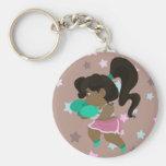 Cute Boxer Girl Keychain
