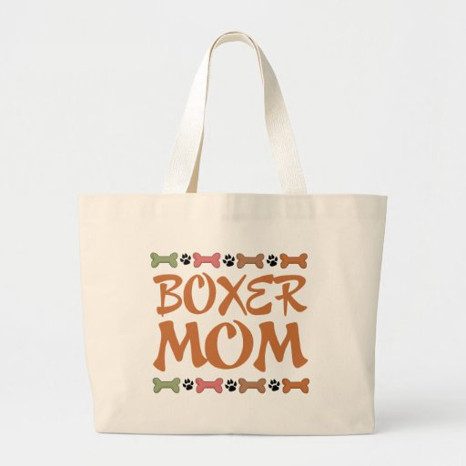 Cute Boxer Mom Gift T Shirt Large Tote Bag Zazzle