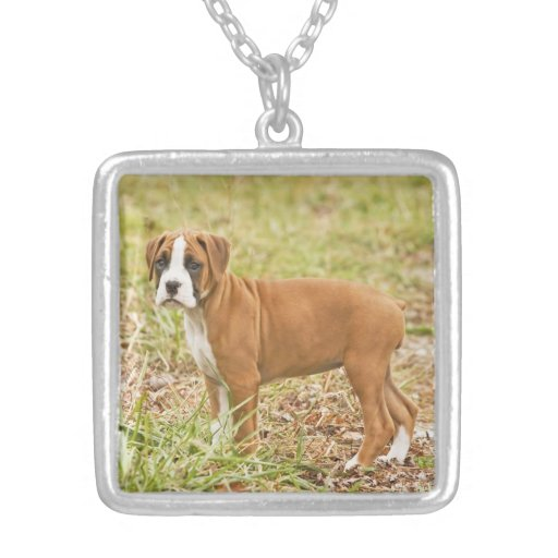 Cute Boxer Puppy Necklace