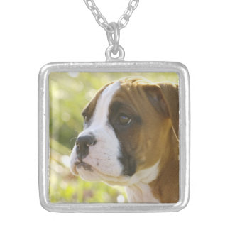 Cute Boxer Puppy Necklace
