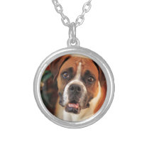 Cute Boxer Silver Plated Necklace